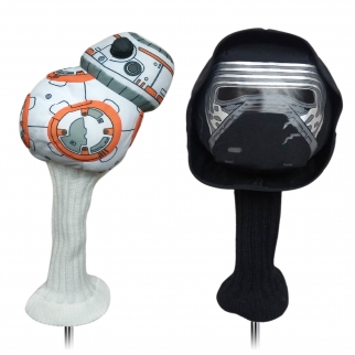 2pc Star Wars VII The Force Awakens Kylo Ren & BB8 460cc Golf Head Cover Set