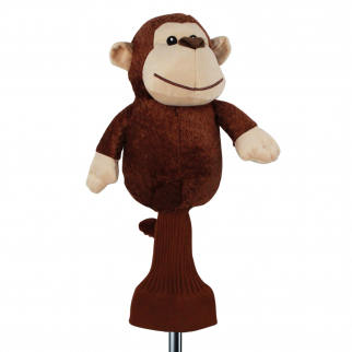 Mulligan the Monkey Brown Plush 460cc Golf Head Cover
