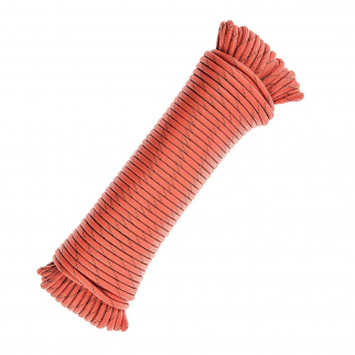 Survival Multi-Purpose Paracord Rope Reflective Tracer Orange - 100ft