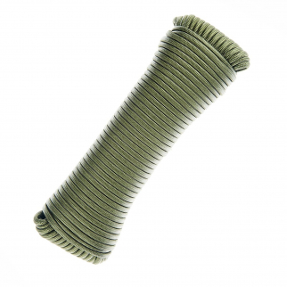 ASR Outdoor Survival Multi-Purpose Paracord Rope OD Green- 100 ft