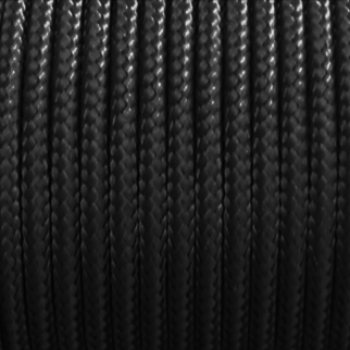 Sleeved Spectra Survival Kevlar Paracord 325lbs Breaking Strength - 25ft Black