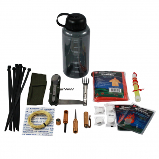 ASR Outdoor Camper Water Bottle Survival Kit