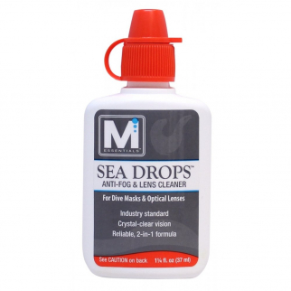 Sea Drops Anti-Fog Lens Cleaner for Diving Masks - 1.25 oz White