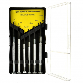 6pc Universal Tool Precision Screwdriver Set Slotted and Phillips Head Sizes