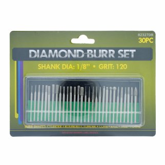 Universal Tool Assorted Diamond Burr Set 120 Grit 30pcs