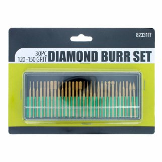 Universal Tool Assorted Diamond Burr Set 120-150 Grit 30pcs