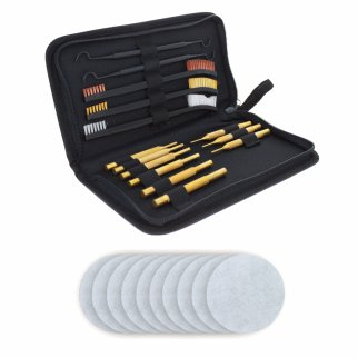 ASR Outdoor Gun Cleaning Kit 24 Piece Set in Canvas Pouch