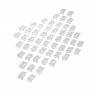 SE JD42-50RH Clear Acrylic Ring Stands (50 Pack)