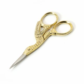 Sharp Tip Stork Stainless Steel Tailors Scissors - Gold