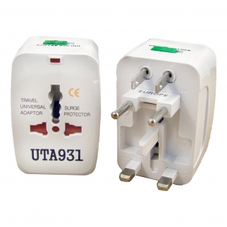 2 Pack World Wide Travel Adapter Plug Surge Protector