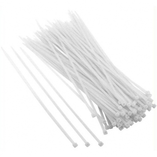 100pk Universal Utility Cable Zip Ties White 12 Inch X 4.2mm