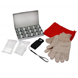 Kids Coin Collecting Kit with Storage Containers and Gloves