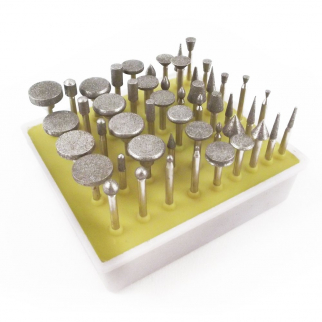 50pc Diamond Burr Set Rotary Tools - 60 Grit