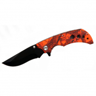 ASR Outdoor Folding Pocket Knife ABS Handle 3.5 Inch Blade - Orange Forest