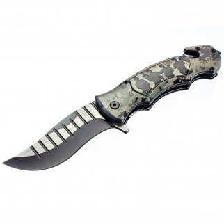 ASR Outdoor Clip Point Blade Pocket Knife 5 Inch Window Punch Military Men