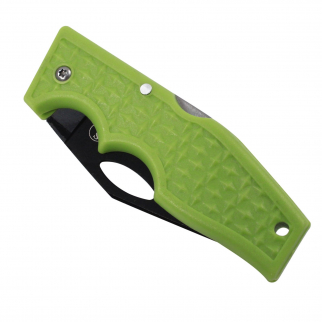 Green Handle Diamond Pattern Plate Folding Knife