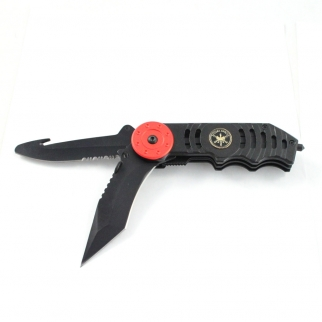 Dual Blade Spring Assisted Folding Knife Open
