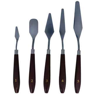 Universal Tool 5pc Artists Spatula Assorted Sizes