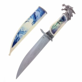 "13.5"" Collector Knife with Dragon Scabbard and Handle"