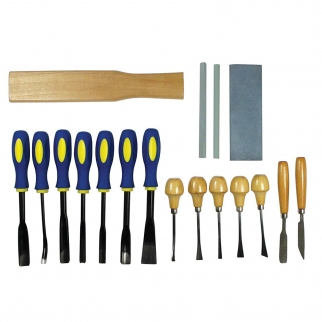 18pc Universal Tool Wood Carving Chisel Set