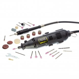Rotary Tool with Flexible Shaft Multi-Purpose Kit 40 Piece Set