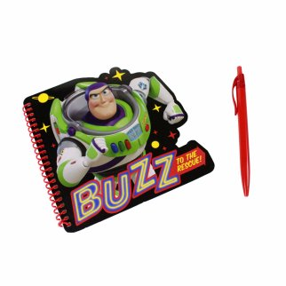 DisneyToy Story 4 Buzz Shaped Spiral Noteboook and Red Pen