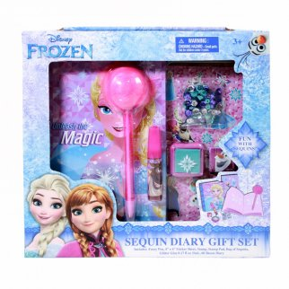Disney Frozen 2 Girls Sequin Diary Gift Set 7 Pieces