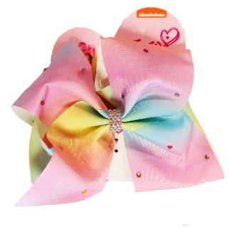 Nickelodeon JoJo Siwa Girls Large Ponytail Hair Tie Bow Rainbow Gems Style