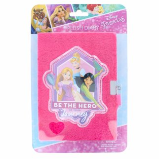 Disney Princess Plush Furry Writing Drawing Diary Journal
