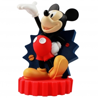 Standing Disney Mickey Mouse Molded Coin Saving Piggy Bank