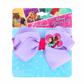 Disney Princess Purple Glitter Headwrap Hair Bow for Girls