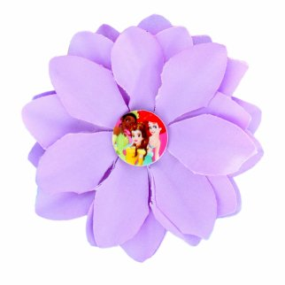 Disney Princess Purple Flower Hair Clip Accessory for Girls