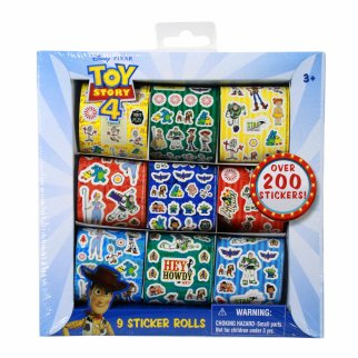 Disney Pixar Toy Story 4 Set of 9 Sticker Rolls