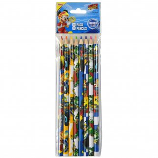Disney Mickey Mouse Kids Colored Pencils Art Supplies 8pc