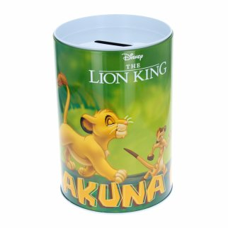 Disney The Lion King Kids Tin Piggy Bank Learning Savings