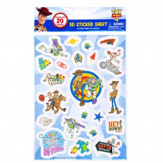 Toy Story 4 3D Raised Sticker Sheet Arts Crafts Scrapbook