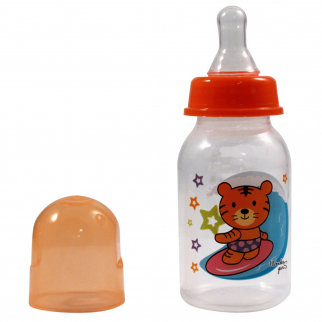 KidPlay Products Infant Baby Bottle 5oz Orange Tiger Silicone Nipple Sippy Cup