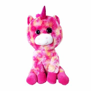 TychoTyke Bright Pink Soft Plush Stuffed Unicorn Kids Comfort and Play Toy