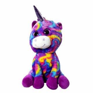 TychoTyke Bright Purple Soft Plush Stuffed Unicorn Kids Toy
