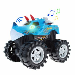 TychoTyke Kids Friction Powered Monster Truck Toy - Blue