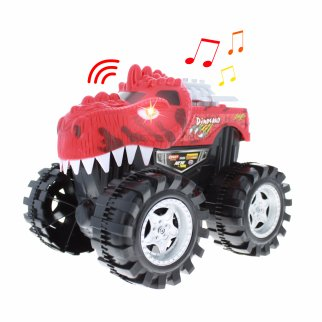 TychoTyke Kids Friction Powered Monster Truck Toy - Red