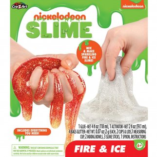 Nickelodeon Fire and Ice Glitter Slime Kids Science Project
