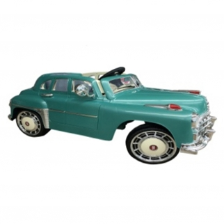1949 Classic Kids Battery Powered Ride On Car in Teal