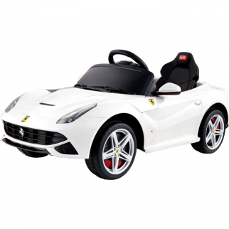 Ferrari F12 12V Kids Battery Powered Ride On Car in WhiteButterfly Doors