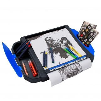 Disney Star Wars Portable Roller Desk Activity Set Stickers Crayons