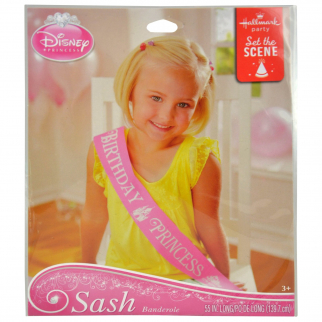 Disney Princess Sash Birthday Party Dress Up Sash Accessory