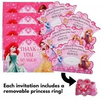 Disney Princess Hallmark Birthday Party Invitations