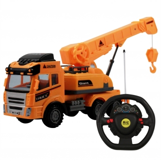 KidFun Builders RC Radio Control Full Function Light Up Construction Truck Crane Hook With Remote Main Image