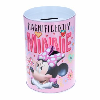 Disney Minnie Mouse Kids Tin Piggy Bank Learning Savings
