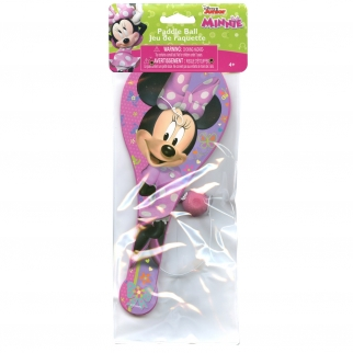 Disney Minnie Mouse Pink Birthday Party Favor or Stocking Stuffer Classic Kids Toy Paddle Ball